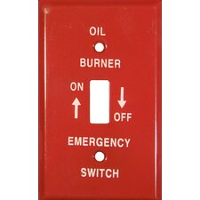 <strong>Morris Products</strong> 1 Gang Gas Emergency Metal Switch Plates