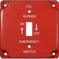 "4"" Raised Gas Emergency Metal Switch Plates"
