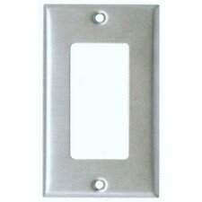 Midsize 1 Gang Decorator/GFCI Stainless Steel Metal Wall Plates
