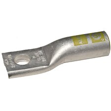 MLA4/0-3/8 Aluminum Long Barrel One Hole Compression Lugs in White