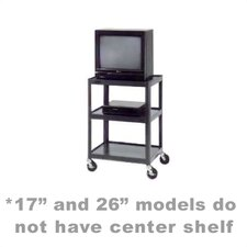 "<strong>Da-Lite</strong> Pixmate 18"" x 24"" Shelf Standard Television Cart [17"", 25.5"", 34"", 42"" Heights]"