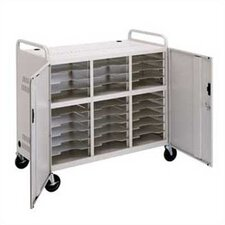 30-Compartment Storage Cart