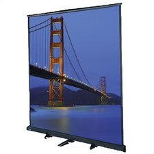 "Floor Model C Matte White 180"" Portable Manual Projection Screen"