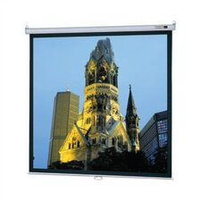 "High Contrast Matte White Model B Manual Screen with CSR - 69"" x 92"" Video Format"