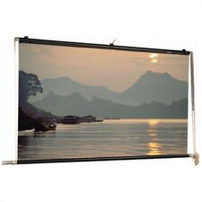 Matte White Scenic Roller Manual Screen - 7' x 18'