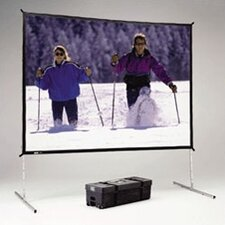 "Deluxe Complete Fast-Fold Portable Front Projection Screen - 10'6 x 14' - 211"" Diagonal - Video Format - 4:3 Aspect - DA-Mat"