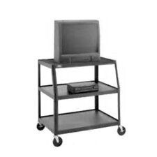 "Pixmobile 24"" x 38"" Shelf Video Cart With 5"" Casters [41"" Height]"