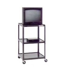 "Pixmate 25"" x 30"" Shelf Large Adjustable Height Television Cart [Up to 54"" Height]"