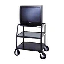 "Pixmate 24"" x 38"" Shelf Television Cart With 8"" Pneumatic Tires"