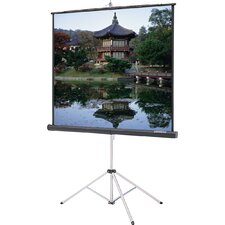"Black Carpeted Picture King With Keystone Eliminator Projection Screen - High Power - Black - 45"" x 80"" HDTV Format"
