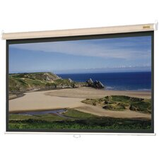 "Designer Model B Matte White 50"" x 50"" Manual Projection Screen"