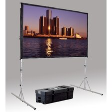 "Fast Fold Deluxe 3D Virtual Black 144"" H x 144"" W Portable Projection Screen"