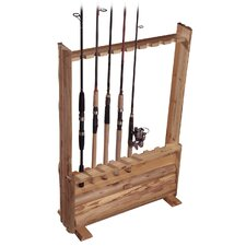 <strong>Rush Creek</strong> Hanging / Standing 8 Fishing Rod Rack with Single Cabinet