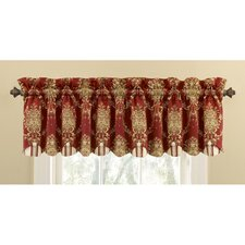 Rose Momento Cotton Rod Pocket Scalloped Curtain Valance