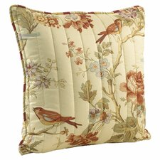 Charleston Chirp Quilted Square Pillow