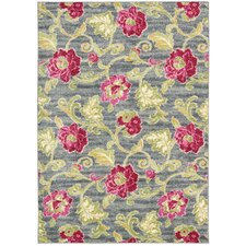 WAV02: Aura of Flora Jazzberry Outdoor Rug