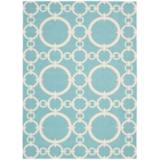 Sun N' Shade Aquamarine Outdoor Rug