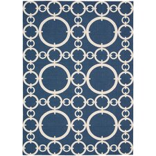 Sun N' Shade Navy Outdoor Rug