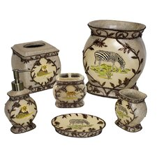 Jungle Safari 6 Piece Bathroom Accessory Set