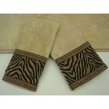 Zebra Gimp Decorative 3 Piece Towel Set