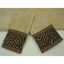 Zebra Gimp Decorative 3 Piece Towel Set