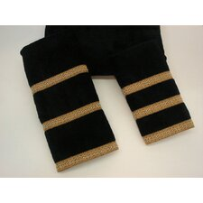 Triple Row Black 3-Piece Decorative Towel Set