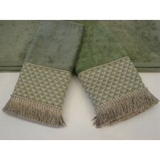 Amore Sage Decorative 3 Piece Towel Set