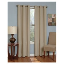 Microfiber Grommet Window Curtain Panel