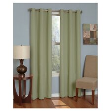 Microfiber Grommet Window Curtain Panel