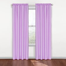 Kids Rod Pocket Window Curtain Single Panel