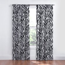 Kids Safari Rod Pocket Window Curtain Single Panel