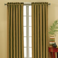 Suede Rod Pocket Window Curtain Single Panel