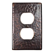 Hammered Copper Single Duplex Receptacle Plate