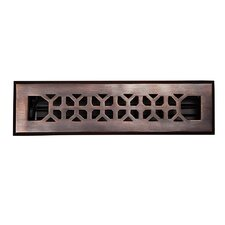 "Decorative 2.25"" x 12"" Floor Register with Damper"