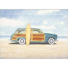 Woody The Car Canvas Art