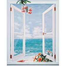 Open Shutters Canvas Art