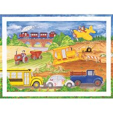 Cars Trucks Airplanes Framed Art