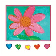 I Love You Daisy Canvas Art