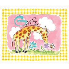 Gingham Giraffe Framed Art