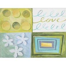 4 Piece Cool Love Canvas Art Set