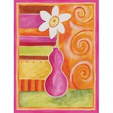 <strong>Art 4 Kids</strong> Orange Geo Vase II Wall Art