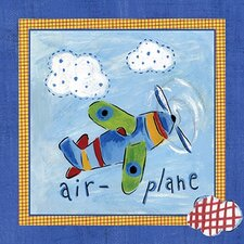 Go Man Go Airplane Canvas Art