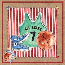 Basketball Jersey Canvas Art