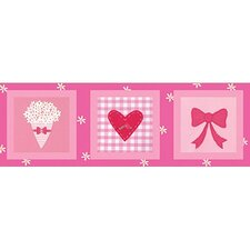 Candy Pink Flowers & Bows Wall Art