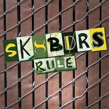 <strong>Art 4 Kids</strong> Sk8bdrs Rule Wall Art