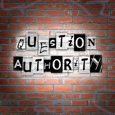 <strong>Art 4 Kids</strong> Question Authority Wall Art