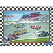 Spin Out in Turn 3 Wall Art