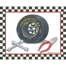 Race Car Gear II Canvas Art
