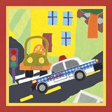 <strong>Art 4 Kids</strong> Rescue Police Car Wall Art