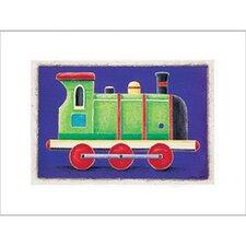 Green Steam Engine Canvas Art